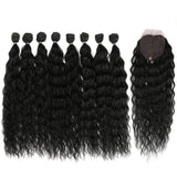 Synthetic Body Wave Weave Afro Kinky Curly Hair Bundles Extension