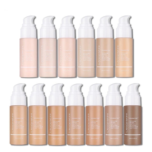 Langmanni 30ml Full Coverage Soft Matte Long Wear Liquid Foundation