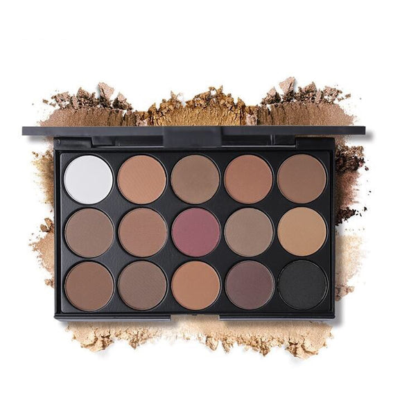 UCANBE Brand 15 Earth Color Matte Eyeshadow Palette