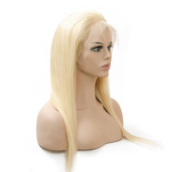 #613/ 1B/613 Brazilian Straight Full Lace Human Hair Wig