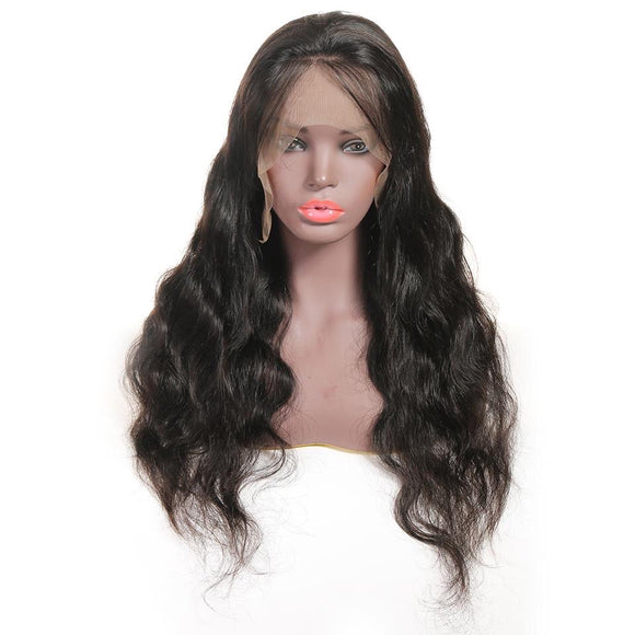 Body Wave Lace Front Human Hair Wig Pre Plucked 13*4 Lace Frontal Wig