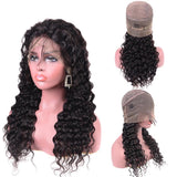 360 Lace Front Human Hair Wig Pre Plucked Brazilian Deep Wave Wig With Baby Hair