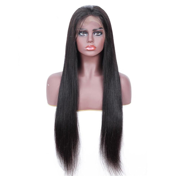 13x4 Brazilian Straight Lace Front Human Hair Wig 150% Density