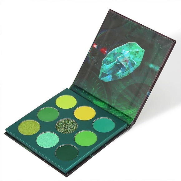 Docolor Time - 9 Colors Shadow Palette (Green)