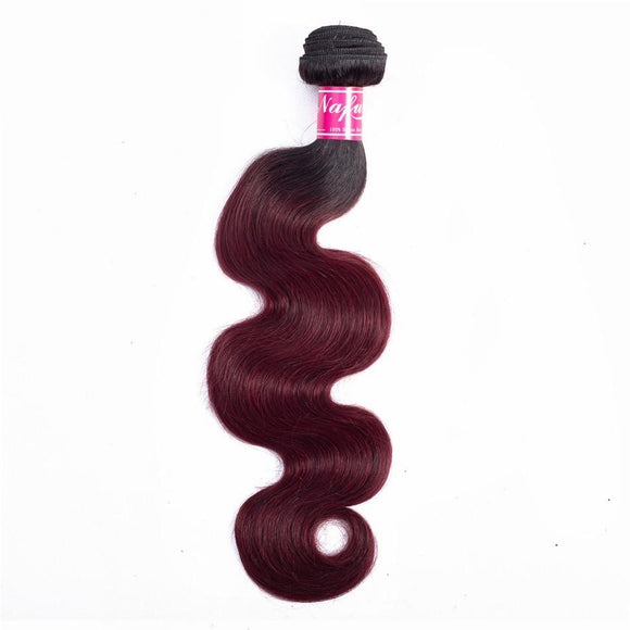 Brazilian Body Wave T1B/99J Pre-colored Ombre Hair Bundles