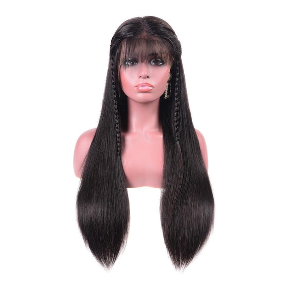 360 Pre Plucked Straight Hair Lace Wig With Baby Hair Human Remy Hair Lace Wig