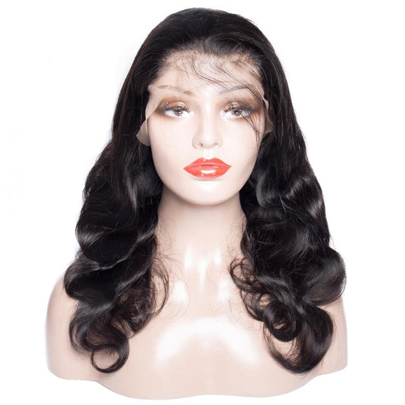Brazilian Body Wave Remy Hair Natural Color 13*4 Lace Front Wig