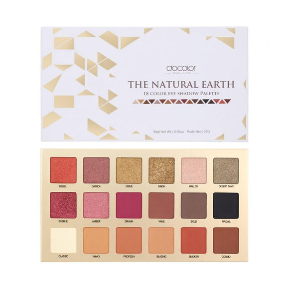 Docolor Natural Earth - 18 Color Eyeshadow Palette