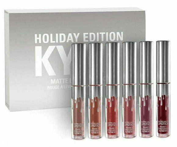 6 Pcs/Set Kylie Jenner Matte Liquid Lipstick Kit - Holiday Edition