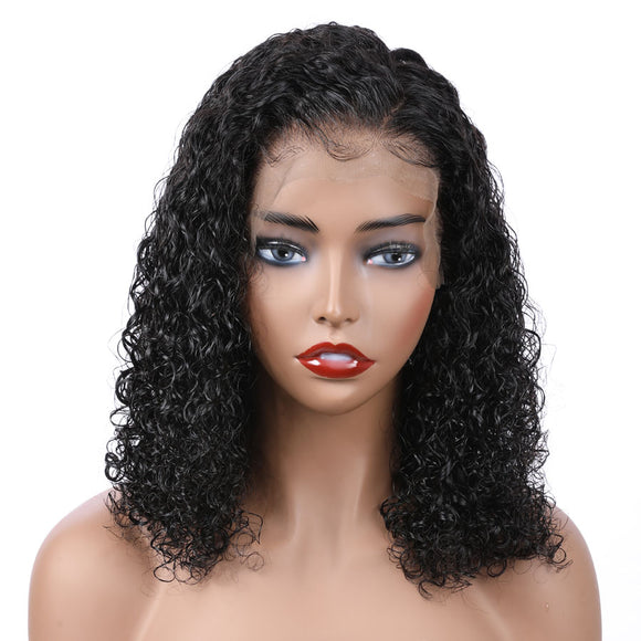 Curly Lace Front Human Hair Wig Pre-Plucked Hairline With Baby Hair