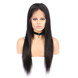 150% Density Pre Plucked Glueless Full Lace Wig Straight 13x6 Lace Front Human Hair Wig