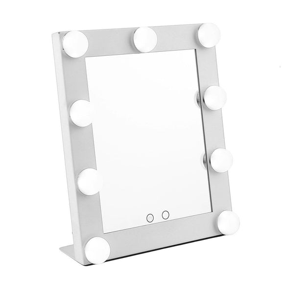 Hollywood Style Portable Makeup Mirror Lighted Illuminated Vanity Mirror With 9 x 3W Super Bright Bulbs
