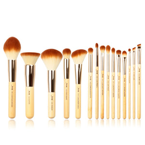 15pcs Bamboo Beauty Professional Makeup Brushes Set
