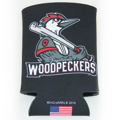 Fayetteville Woodpeckers Wincraft Can Cooler Black