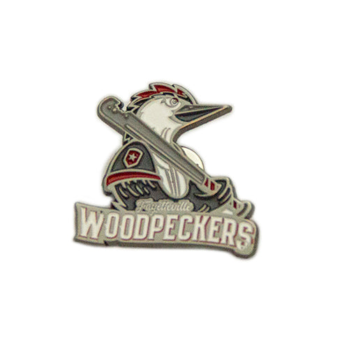 Fayetteville Woodpeckers Primary Logo Lapel Pin