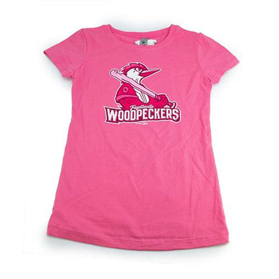 Fayetteville Woodpeckers Girl's Primary T-shirt Pink