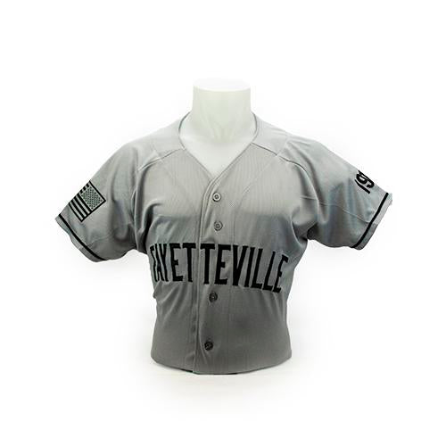 Fayetteville Woodpeckers Men's 1918 Throwback Jersey Grey