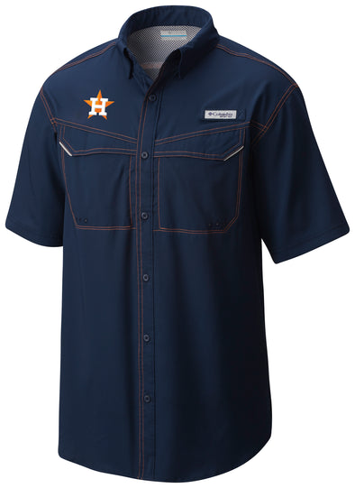 Houston Astros Men's Columbia Low Drag Fishing Shirt
