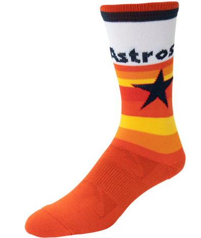 Houston Astros PKWY Unisex Cooperstown Rainbow Socks
