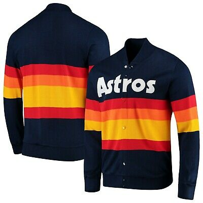 Houston Astros Men's Mitchell & Ness Cooperstown Cardigan Sweater