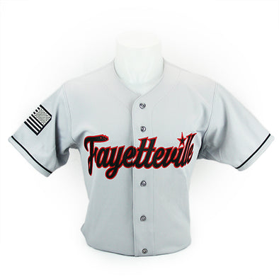 Fayetteville Woodpeckers Road Replica Jersey Grey