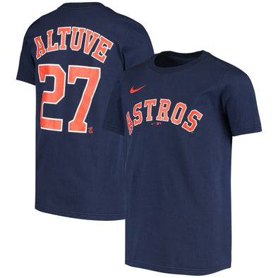Houston Astros Youth Outerstuff Name & Number Jose Altuve T-Shirt