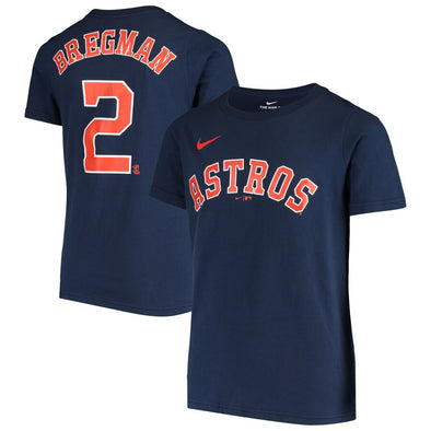 Houston Astros Youth Nike Name & Number Alex Bregman T-Shirt