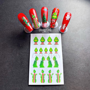 Grinchy Stickers #2 NEW.