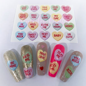Candy Hearts Stickers NEW!