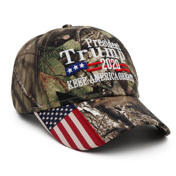 Trump 2020 USA Flag Hat - MossyOak