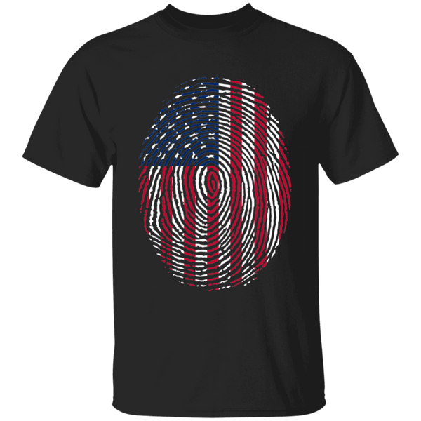 American Thumbprint  Cotton T-Shirt