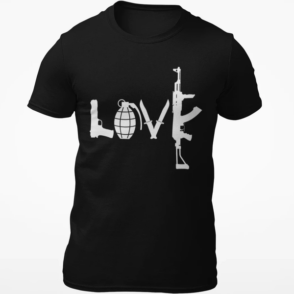 LOVE Guns Cotton T Shirt