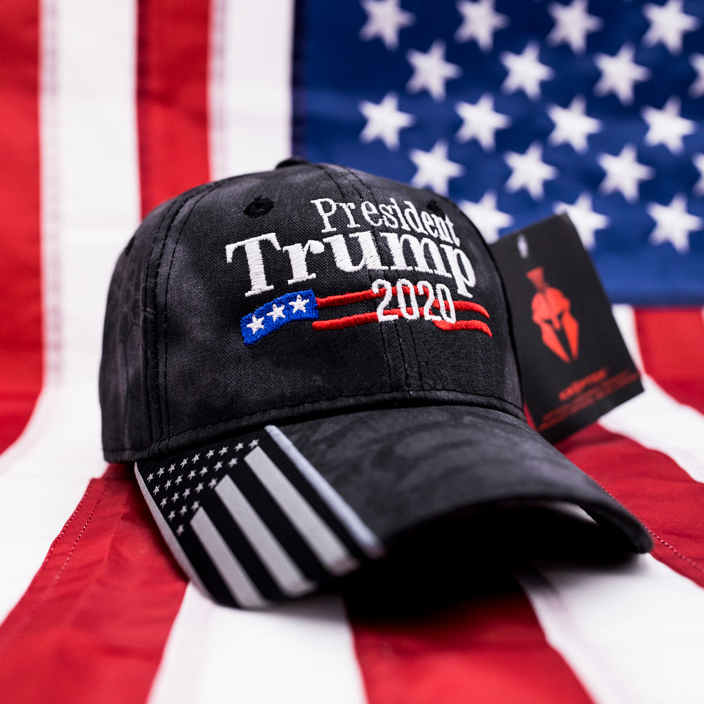 Trump 2020 USA Flag Hat