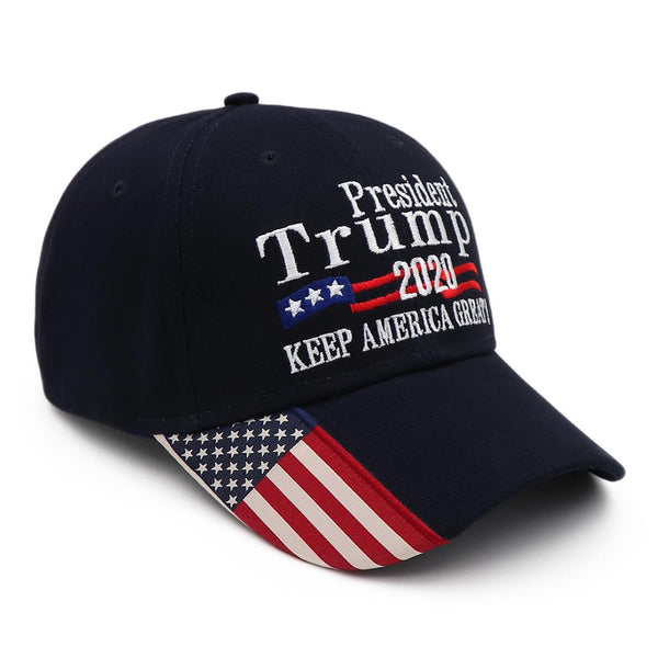 Trump 2020 USA Flag Hat - Navy