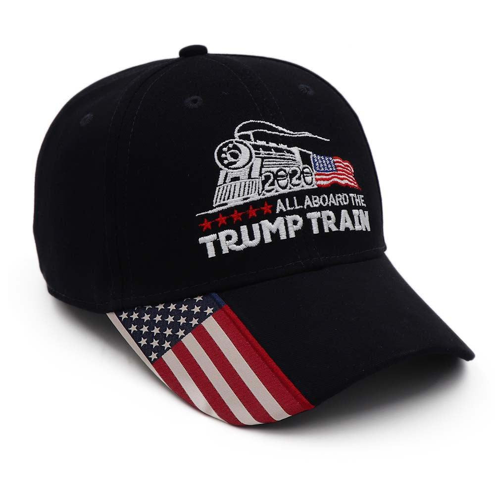 Trump Train USA Flag Hat