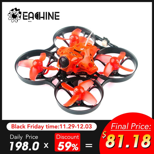 Eachine TRASHCAN TC75 75mm Crazybee F4 PRO OSD 2S Whoop FPV Racing Drone Caddx Eos2 Camera 25/200mW VTX VS HS120D XY4