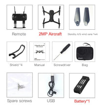 Load image into Gallery viewer, Eachine E58 WIFI FPV With True 720P/1080P Wide Angle HD Camera High Hold Mode Foldable Arm RC Drone Quadcopter RTF VS S9HW M69