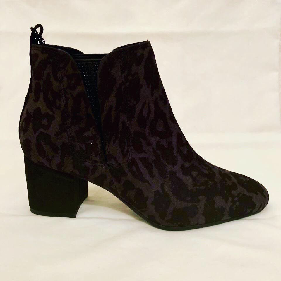 Marco Tozzi Leopard Boot (Dark Grey)