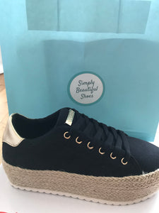 GUESS Black Canvas Shoe