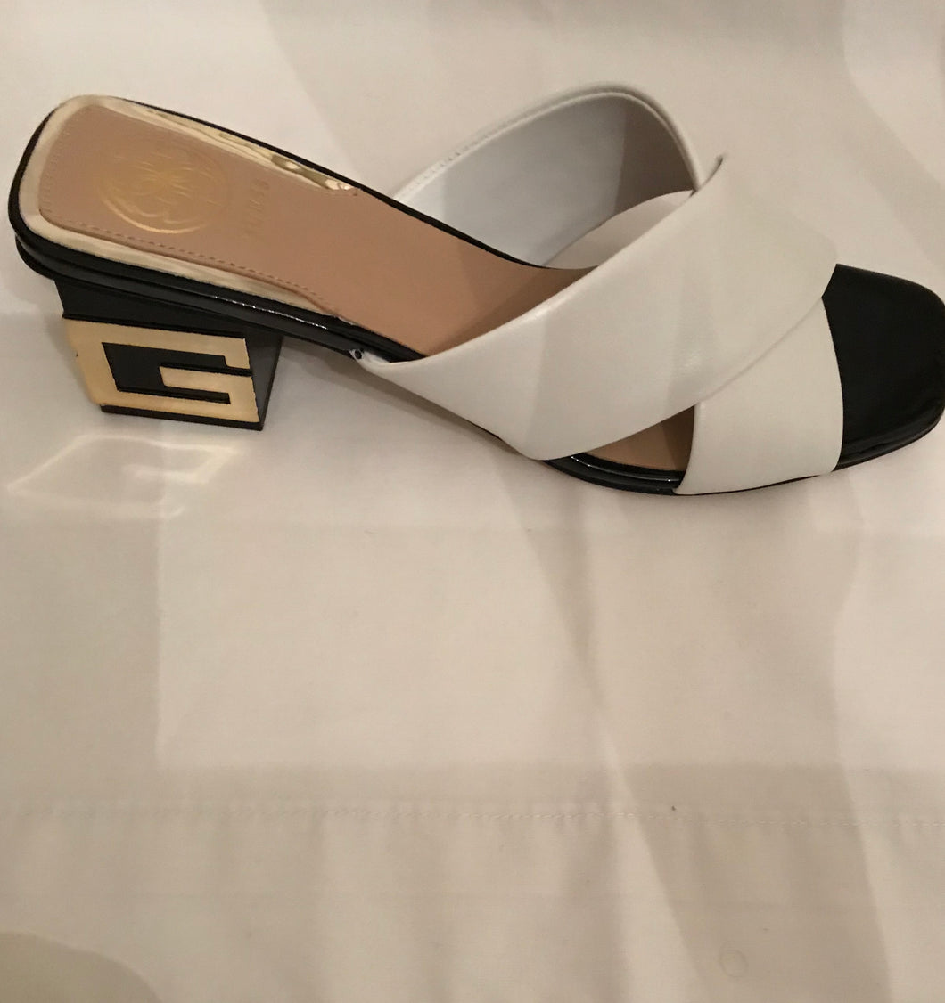 Beautiful White Leather Slip On by GUESS