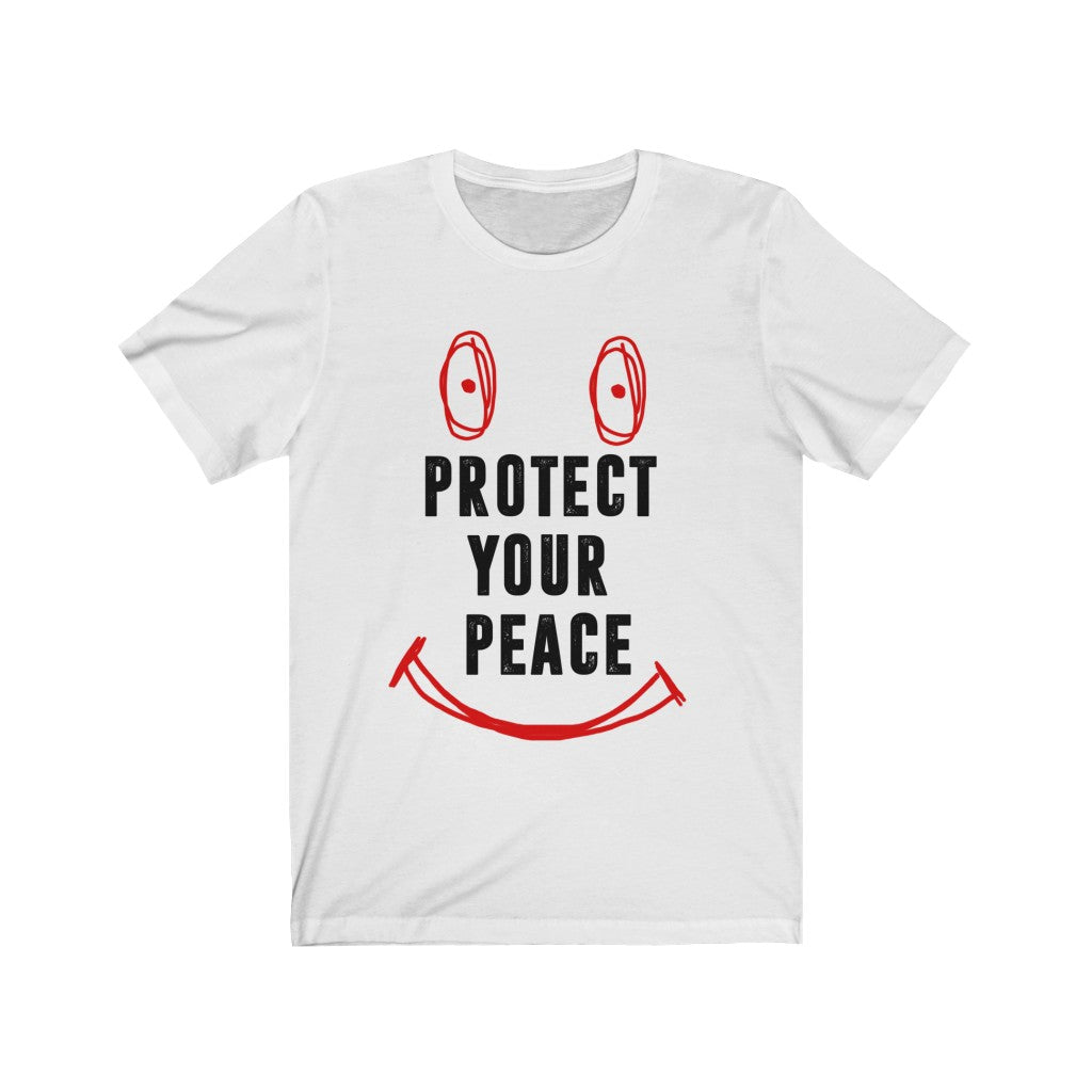 Protect my peace White t-shirt red and black print