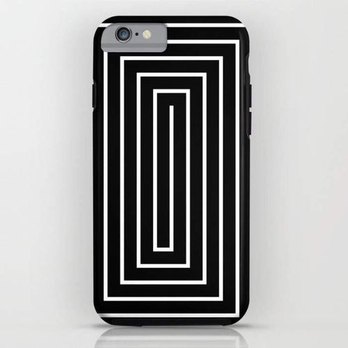 Black & White Spiral Mobile Cover