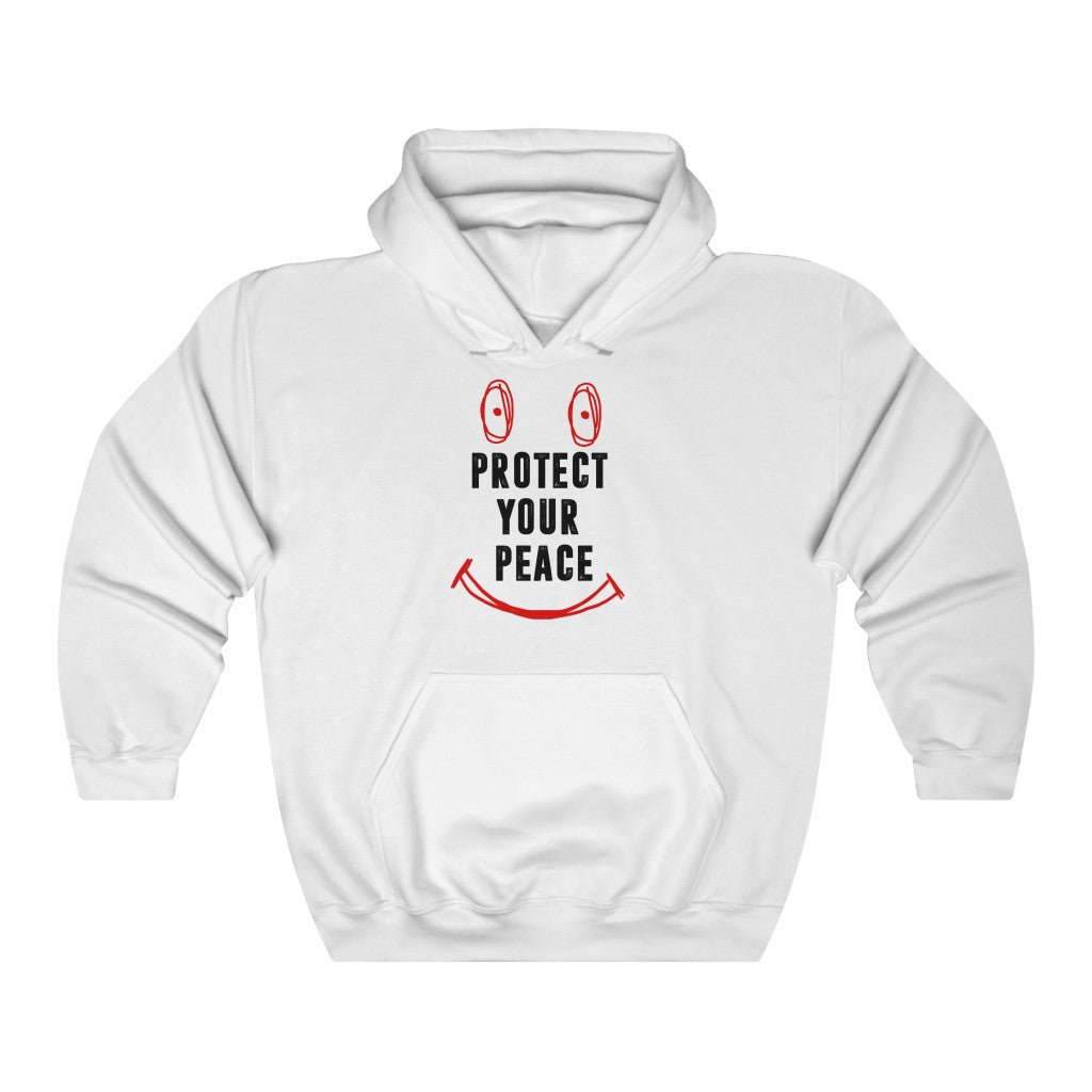 Protect your peace white hoodie Unisex Heavy Blend™ Hooded Sweatshirt