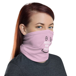 Pink Protect your peace face mask