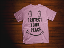 Load image into Gallery viewer, Pink protect your peace t-shirt