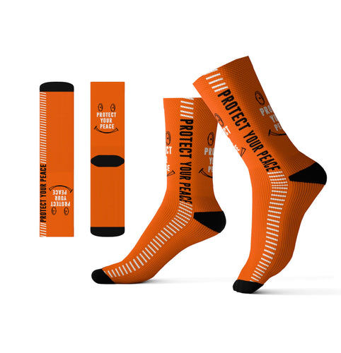 Orange protect your peace Sublimation Socks