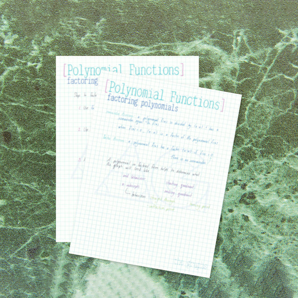 Polynomial Functions: factoring - AG Tutoring