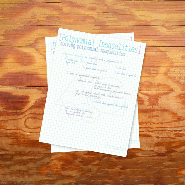 Polynomial Inequalities: solving with the case method - AG Tutoring