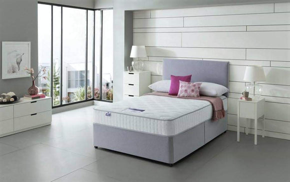 DOUBLE 4FT 6 Divan Bed With Mattress And Headboard 5 COLOURS
