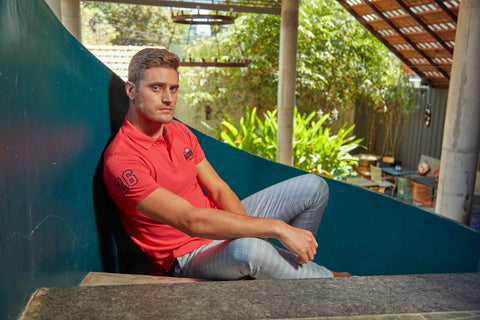 casual polo t-shirt with chinos